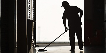 professional janitor cleaning floors from phoenix janitorial